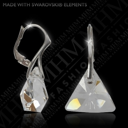 Náušnice Triangle Crystal Ag