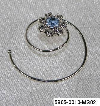 251ded27827 Spirála do vlasů - Krystal - stříbro 5805-0010