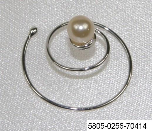 75ff2020797 Spirála do vlasů - Perla - stříbro 5805-0256