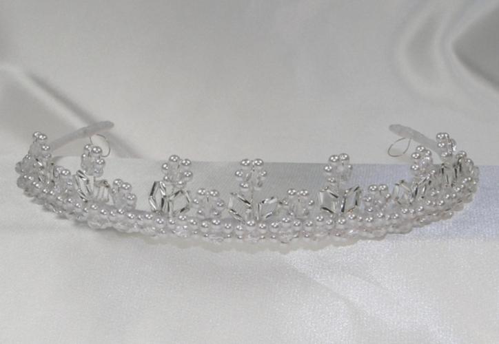 Korunky svatební - bíle perličky dd8e83d61d
